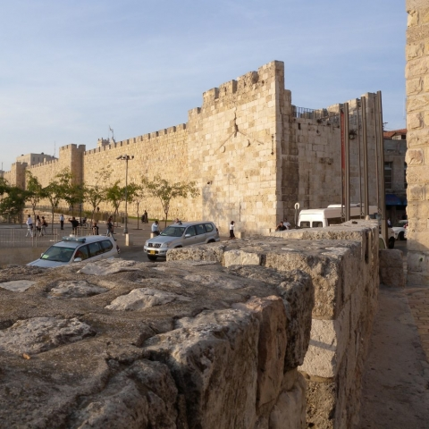 The entrance to the Old City of Jerusalem at Jaffa Gate